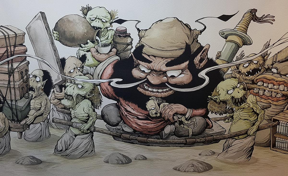 陳志韋手繪創作「鍾馗渡江」