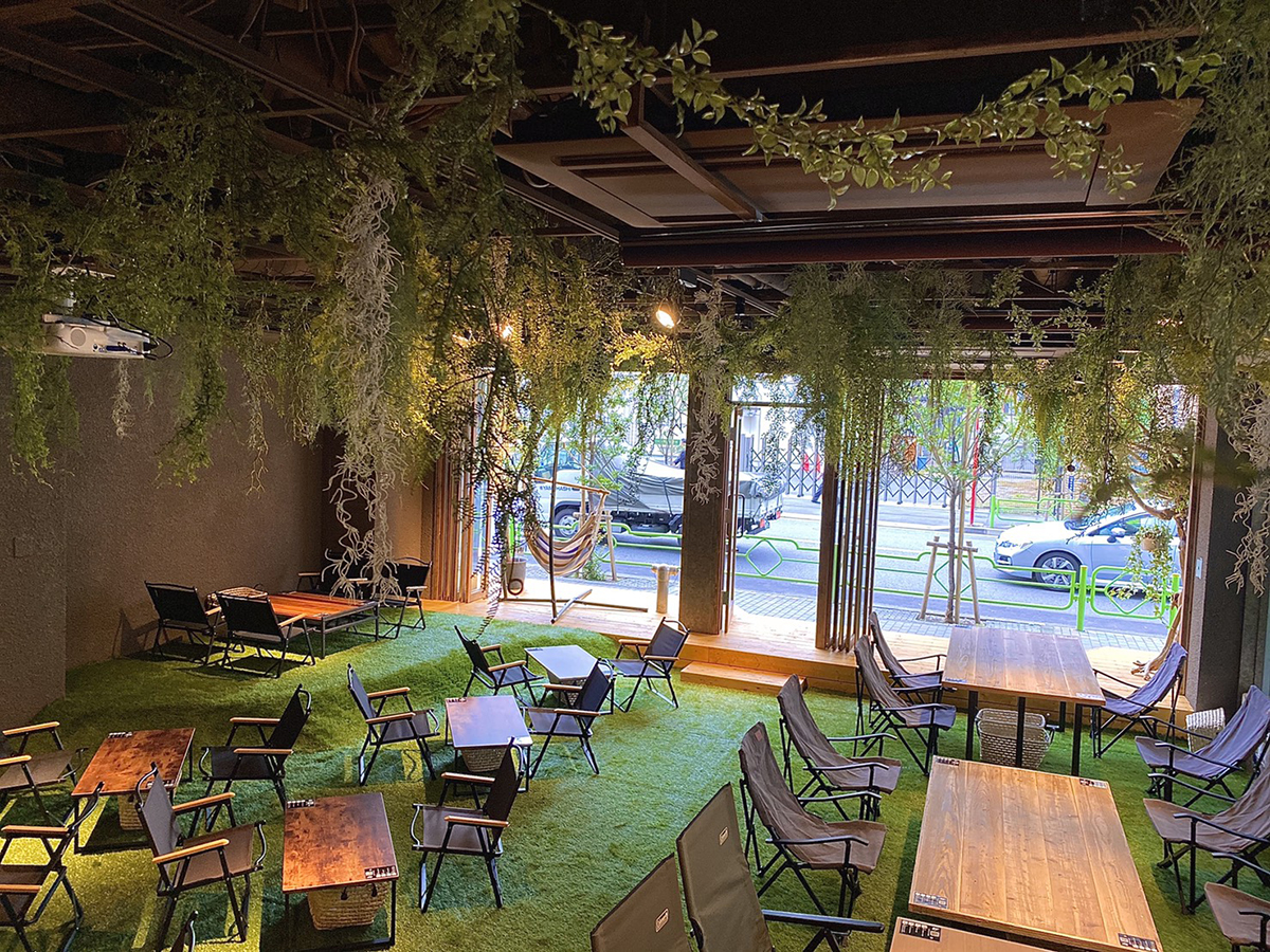 REWILD OUTDOOR TOKYO店內用餐環境(圖片提供 REWILD OUTDOOR TOKYO)