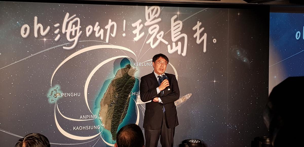 台南市市黃偉哲市長親自蒞臨記者會宣傳台南豐富旅遊資源