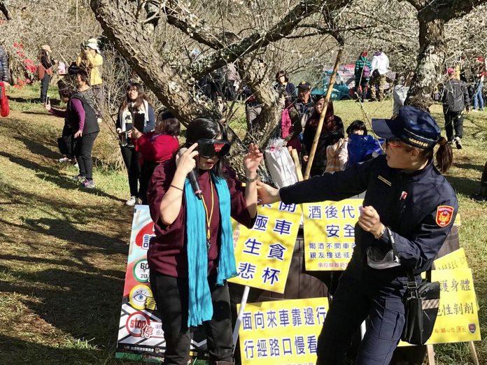 南投信義分局「踏雪尋梅」活動 舉辦交通安全與犯罪預防宣導