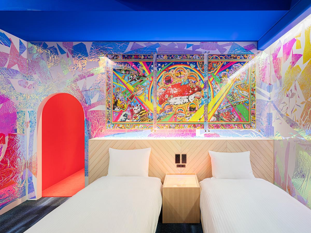 日本橋「BnA_Wall」藝術旅店-華麗的圖騰與幾合圖型的完美結合(圖片來源BnA株式會社)