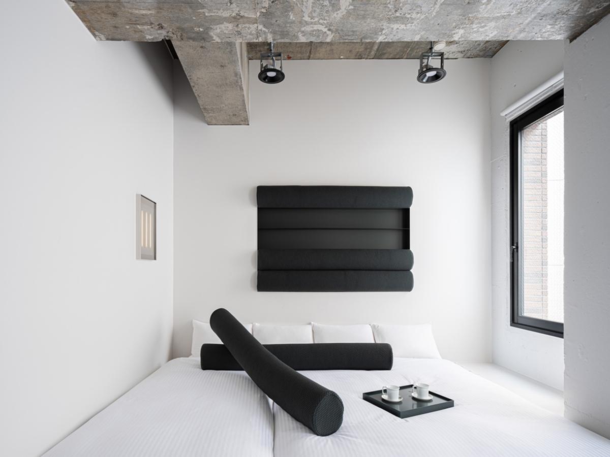 日本橋「BnA_Wall」藝術旅店-黑與白的簡約,明亮又舒適(圖片來源BnA株式會社)