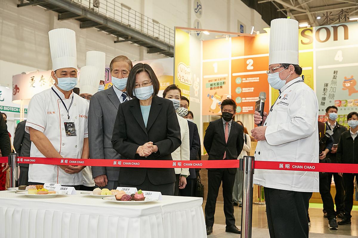 總統參觀第二屆漢餅創新大賽