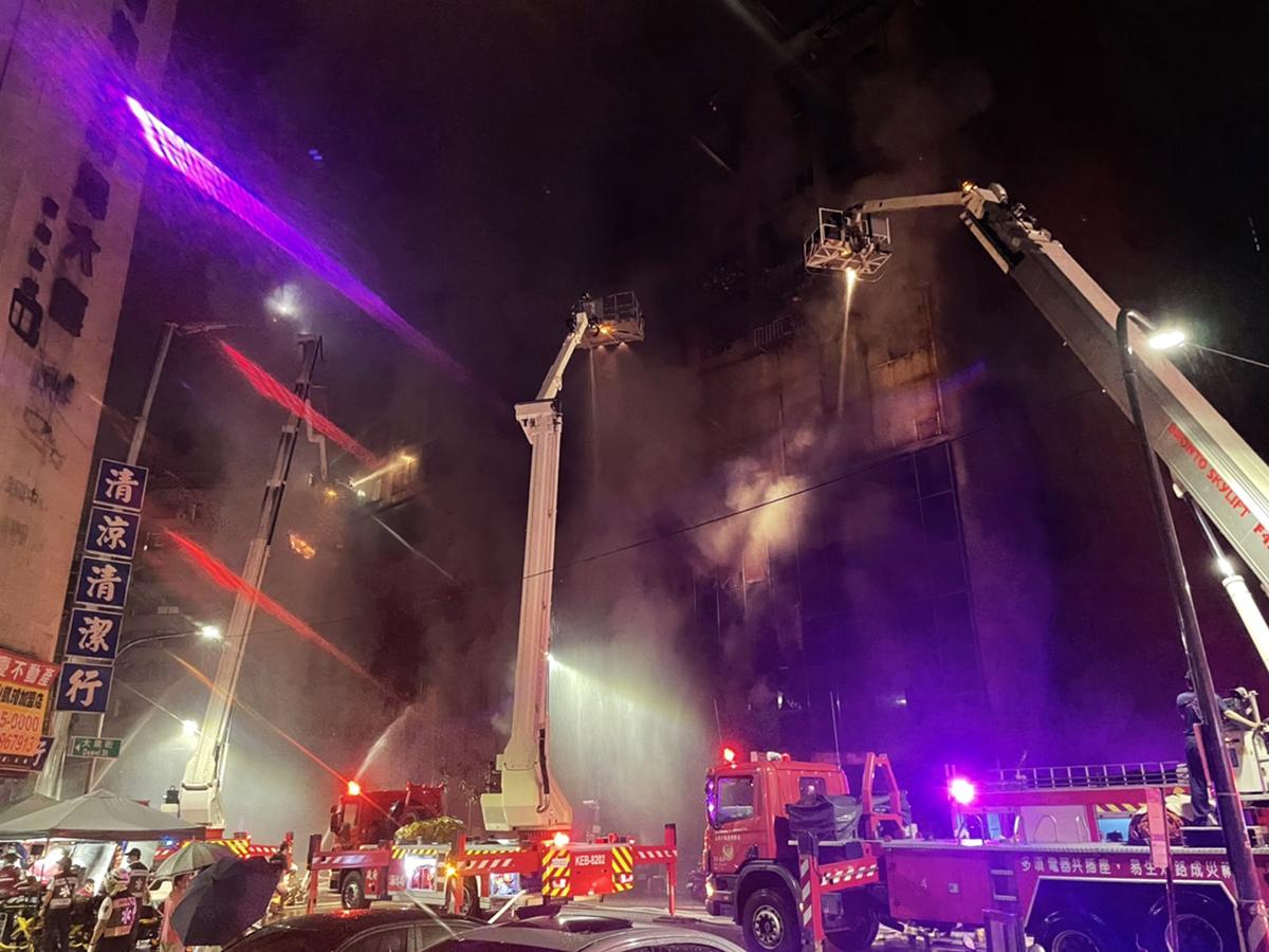 高雄市鹽埕區府北路「城中城」大樓今(14)日凌晨發生火警,造成46人死亡,41人受傷送醫救治